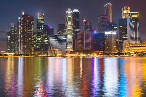 View of Singapore Downtown Core