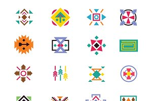 Aztec ethnicity style signs