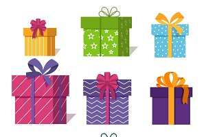 Gifts or presents boxes icons