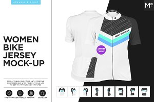 Women Bike Jersey Mock-up