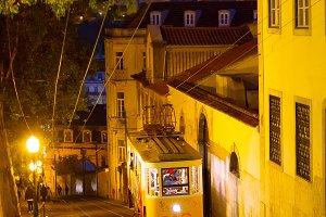 funicular. Lisbon, Portugal