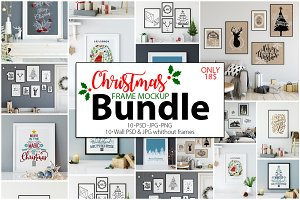 Christmas Frame Mockup Bundle