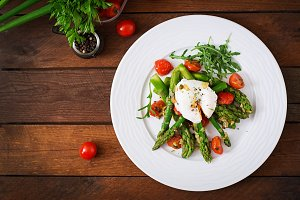 Salad of asparagus