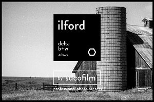 Ilford Delta BW Film-LR & Photoshop