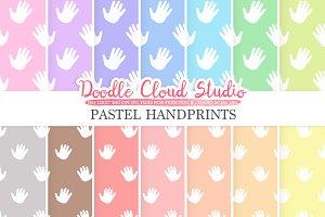 2 Sets of Pastel Handprints paper