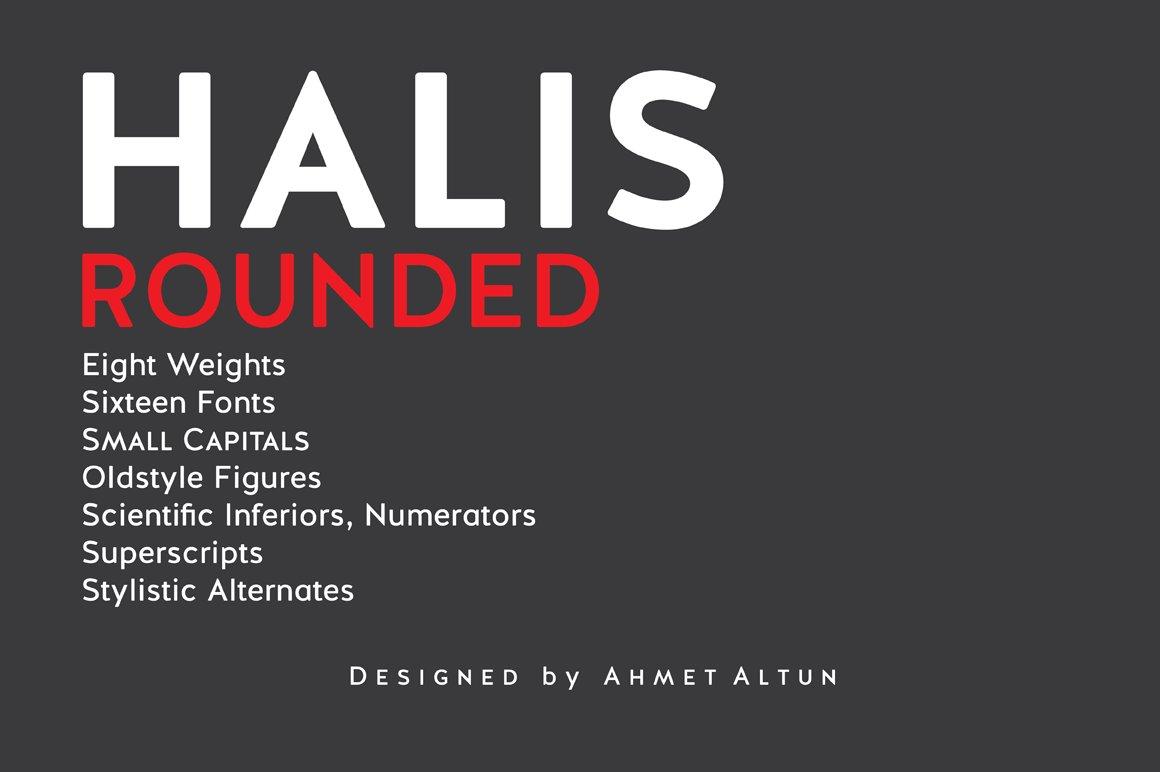 Halis Rounded Sale Sans Serif Fonts Creative Market