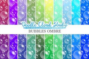 10 Ombre Soap Bubbles digital paper