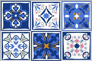 Ceramic tiles vintage patterns