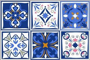 Ceramic tiles vintage patterns
