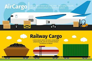 Cargo transportation banners
