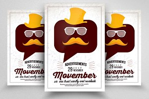 Movember Mustache Flyers