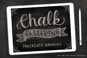5 Chalk Lettering Procreate Brushes