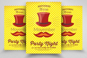 Grow Mustache Movember Flyer