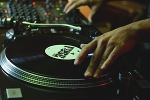 DJ Scratching on Vinyl