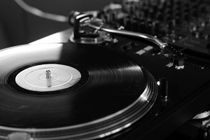 Playing Vinyl Record