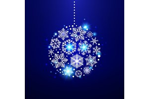 Decorative christmas snowflakes