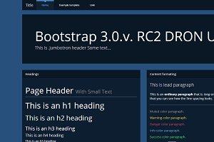 Bootstrap 3.0. theme DRON dark UI