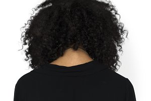 woman back view (PNG)