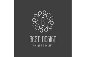 Best design of the minimalism leaves on a dark background in form patterns