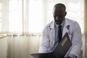 An African descent doctor