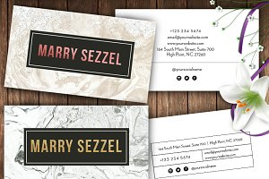 Marble Name Cards -id34
