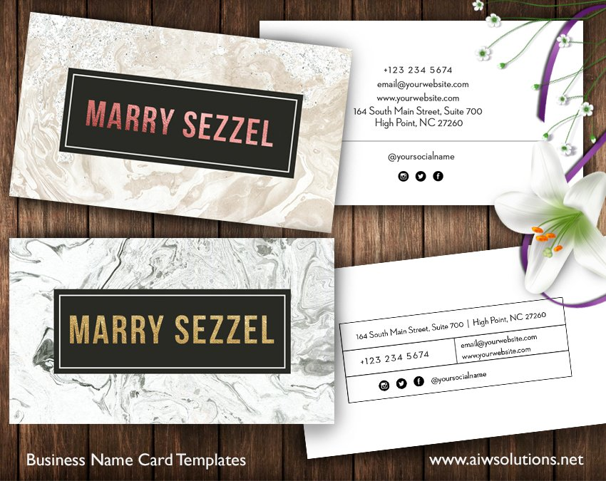 Marble Name Cards -id34 ~ Business Card Templates ~ Creative Market