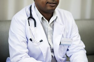 An Indian doctor working