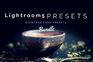 6 LR Presets Vintage Food Photos