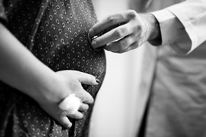 A trimester pregnant woman