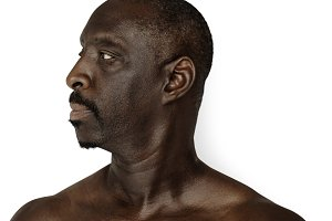 close up of african man (PNG)
