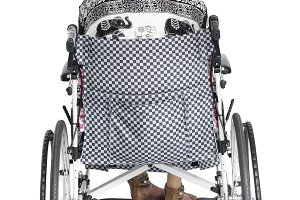 disabled woman back view (PNG)