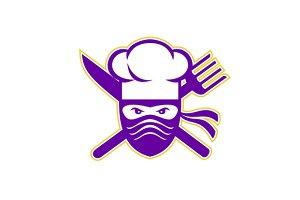 Ninja Chef Crossed Knife Fork Icon