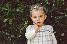 Little girl portrait in nature