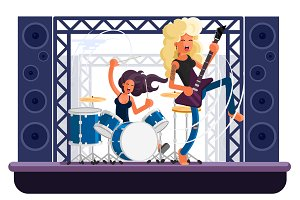 The Band vector illustration