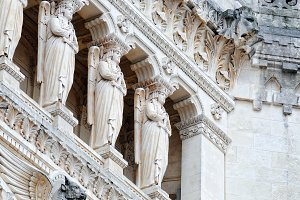 Detail facade Notre Dame de Fourvier