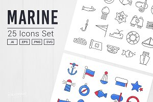 Marine UI Icon Set - Vectors