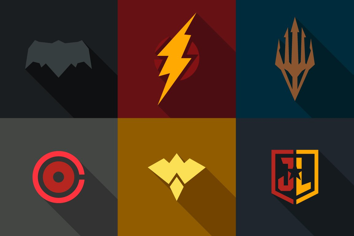 Justice League Super Heroes (Set 34) ~ Logo Templates ...Justice League Emblem