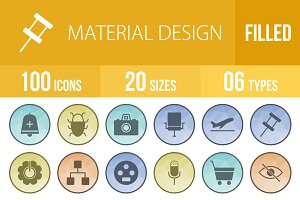 100 Material Design Low Poly Icons