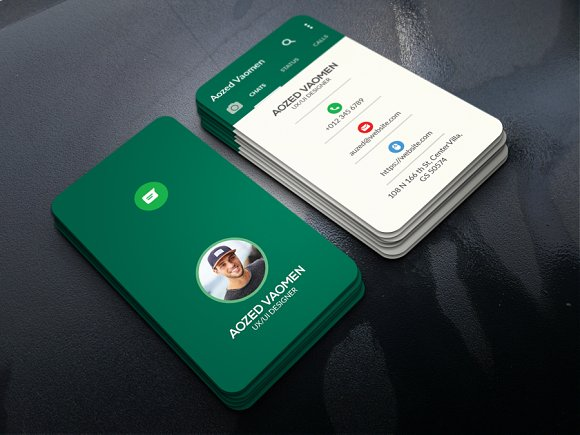 Whatsapp business card business card templates creative market colourmoves Images