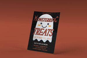 Monsterrific Treats Halloween PSD
