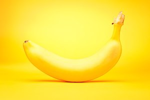 Banana On Yellow
