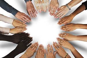 Group of hands (PNG)