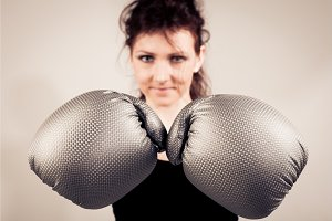 Boxing Woman Portrait