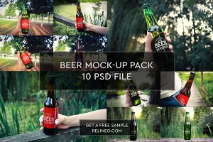 Beer Bottle 10 PSD Pack #1