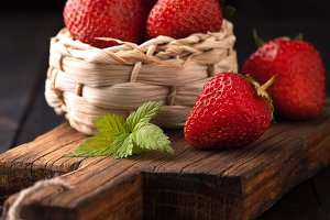 Ripe strawberries