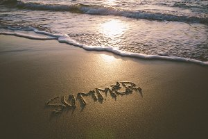 Summer word in the sand