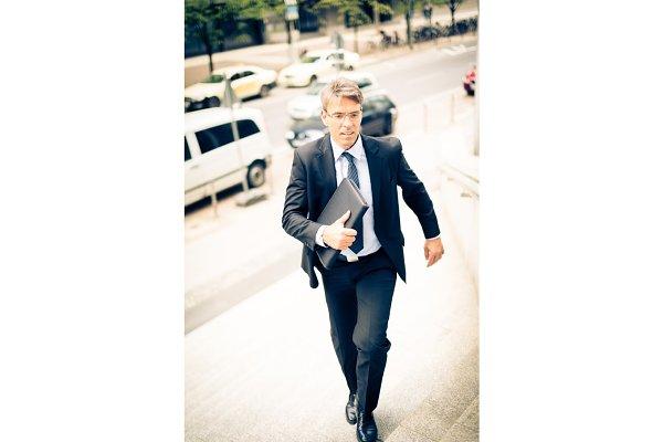 Businessman In Frankfurt main