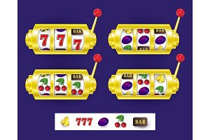 Slot machine, jackpot winning combination, symbols