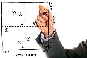 Businessman With Portfolio Analysis