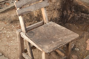 Old wooden chair.